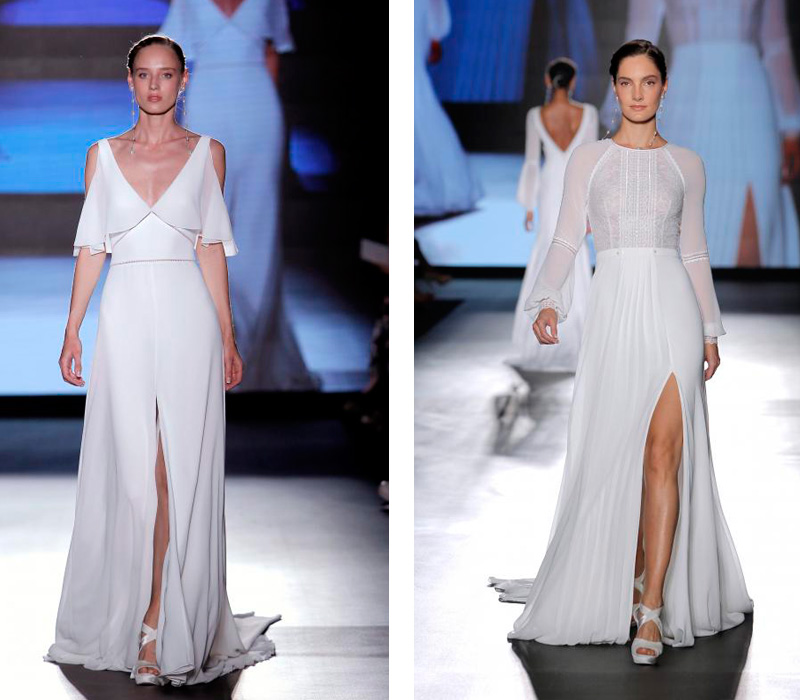 Rosa Clara 2019 Barcelona Bridal Fashion Week por Rodolfo Mcartney Vestidos Rosa Clara via Barcelona Bridal Fashion Week collage2