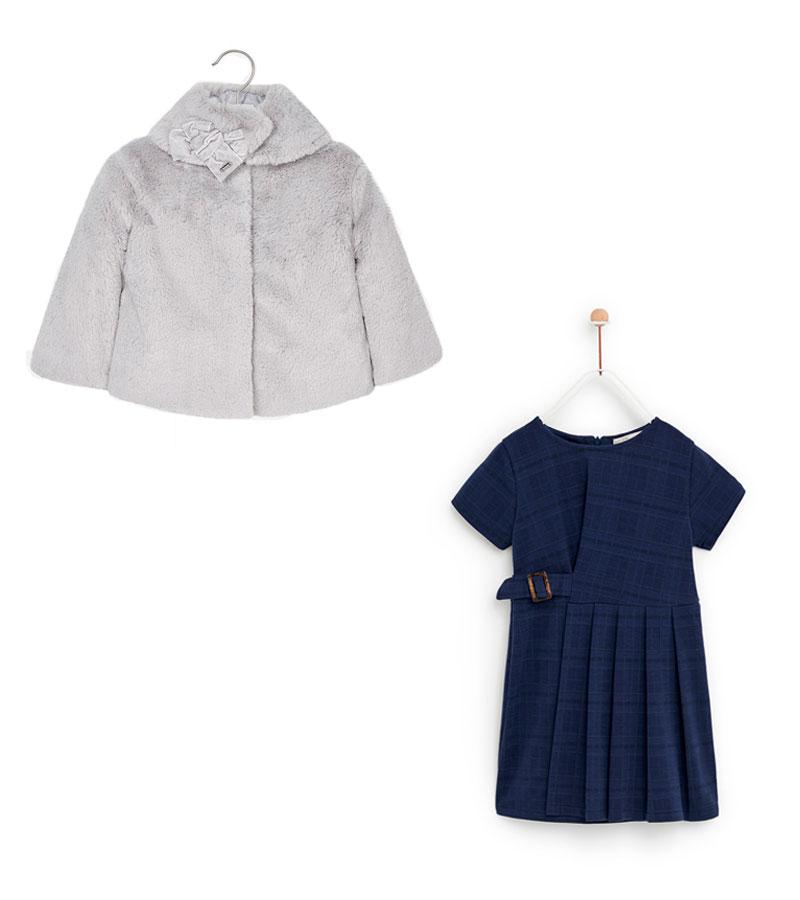 Vestido Zara / Chaqueta Mayoral
